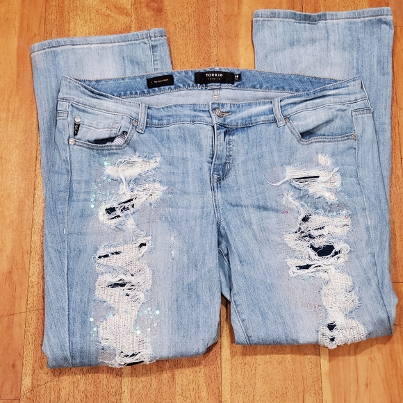 Torrid Premium Relaxed Bootcut Jeans Size 18